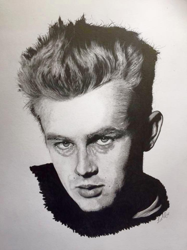 James Dean par Finefinishportraits